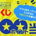 Yahoo!ニュースアプリキーワードくじ 2,000ポイント当たる!|Yahoo!ズバトク