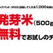 ファンケルの発芽米 家族応援モニターキャンペーン!
