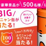 Y!mobile 2周年記念 BIGふてニャン缶が合計500名様に当たる!